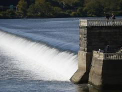 Fairmount Dam on the Schuylkill River in Philadelphia. The river is the source of much of the city's drinking water.