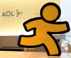 The AOL Running Man is used in the company's instant messaging feature AIM.