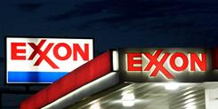 An Exxon sign is seen at a station in Manassas, Va., in 2008.