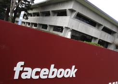 Exterior of Facebook headquarters in Palo Alto, Calif., on Monday, Jan. 3, 2011. 