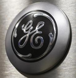 The General Electric logo seen on a microwave oven at Best Buy in Mountain View, Calif., in this file photo taken Oct. 14, 2009,