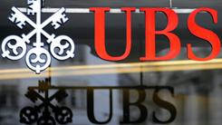 Swiss Bank UBS shows its logo in Zurich, Switzerland, in 2009.