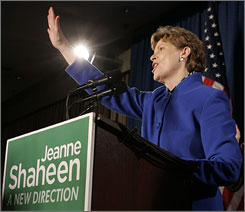 Former New Hampshire Governor Jeanne Shaheen defeated Republican Sen. John Sununu for a seat in the U.S. Senate. 