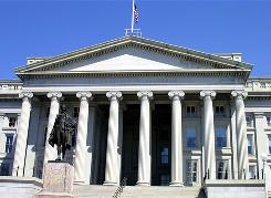 The U.S. Treasury building in Washington, D.C.