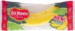 A Del Monte banana packaged for sale.