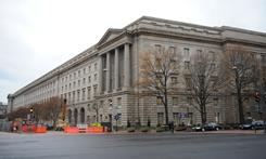 The Internal Revenue Service Building in Washington DC.