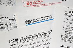 Internal Revenue Service tax forms.