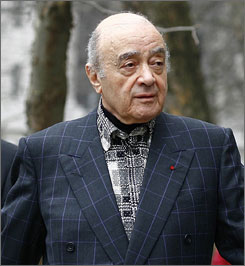 Mohamed al Fayed, father of Dodi Fayed, arrives at the High Court in London on Feb. 19. Fayed won the battle for a judicial review into the decision to hold the inquests into the deaths of Dodi Fayed and Princess Diana without a jury.