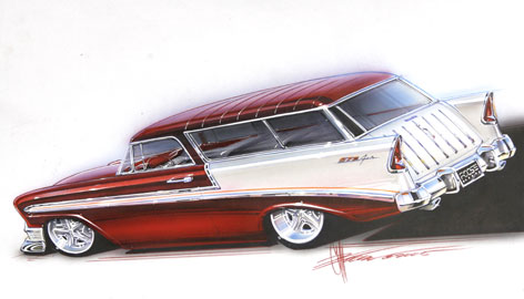 "A 1956 Chevy Nomad, owned by Dave Kalaci, the transmission mechanic for Jay Leno, was featured on the TV Show Overhaulin"", hosted by Chip Foose. The car designer has made a name for himself by tapping into the growing mania for old American cars. Ford unveiled a special edition F-150 pickup at the recent Detroit Auto Show that's all Foose, a gift of free rein that no in-house designer has ever enjoyed."