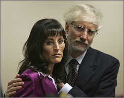 Angel Raich is shown in Oakland with her husband Robert in this June 2005 file photo. Angel Raich's doctor says marijuana is the only medicine keeping her alive, but a federal appeals court ruled Wednesday that that does not make her immune from federal prosecution on drug charges.