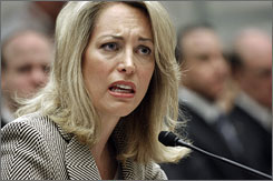 Former CIA covert agent Valerie Plame Wilson testifies before a House committee today, marking the first time she's publicly answered questions about her identity being leaked.