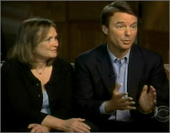 John and Elizabeth Edwards are interviewed by Katie Couric on 60 Minutes. Last week, Elizabeth was diagnosed with the re-emergence of cancer. Edwards has vowed to stay in the race.
