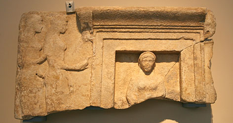 This  490 BC votive relief showing an enthroned goddess can now be seen in Athens, following its return to Greece from the J. Paul Getty Museum in Los Angeles.
