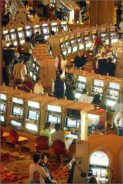 The Mohegan Sun resort and casino is located in Uncasville, Conn., on the Mohegan Indian Reservation. Although efforts to ban off-reservation gaming died in Congress, the Interior Department is considering regulations that could restrict development of new Indian casinos on off-reservation sites.