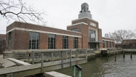 The newly-restored ferry building on Ellis Island, N.J., will be open to the public for the first time Monday, April 2. Many new Americans completed their legal and health inspections there before heading to destinations all over the country.