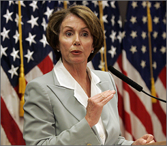 U.S. House Speaker Nancy Pelosi holds a news conference in San Francisco April 10.