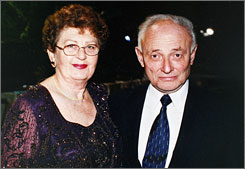 Romanian-born lecturer Liviu Librescu and wife Marlena are seen in an undated photo. The Israeli lecturer was killed in the Virginia Tech massacre was a Holocaust survivor who later escaped from Communist Romania.