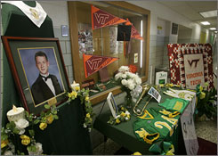 Students of Narrows High school remember Jarrett Lane, 2003 Valedictorian and letterman in four sports. Jarrett was one of 32 people killed by fellow student Cho Seung-Hui at Virginia Tech Monday.