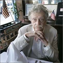 Author Kurt Vonnegut, 84, died April 11 from brain injuries he suffered in a fall.