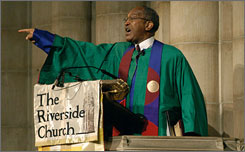 Rev. James Forbes Jr. will retire in June after 18 years at the helm of Manhattan's Riverside Church.