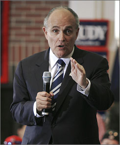 Rudy Giuliani said the discipline of campaigning in such a diverse city as New York helps him now with his presidential bid.