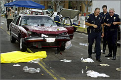 George Russell Weller, then 86, killed 10 people and injured more than 70 when he drove his car into a crowded farmers market in Santa Monica, Calif., on July 16, 2003.