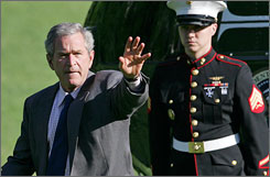 Amid warnings from 11 moderate House Republicans, President Bush vowed to veto the Iraq bill.