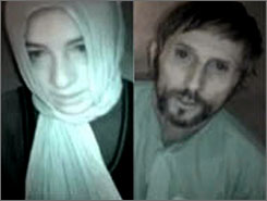 Photos taken in April  from the site of public Canadian television network CBC shows two French nationals taken hostage in Afghanistan. The Taliban movement said it released a French aid worker who was kidnapped more than five weeks ago, on Friday.