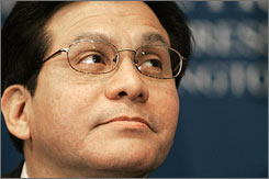 Attorney General Alberto Gonzales is under new political heat after two more Republicans came out against him and Democrats broadened their probe of prosecutor firings to questions of whether he politicized the Justice Department at the White House's behest.