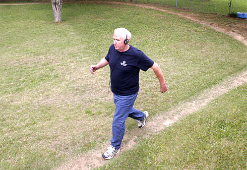 Gary Todd has worn a trail around the perimeter of his yard in Opelika, Ala., from walking so much — 56 laps, five days a week.