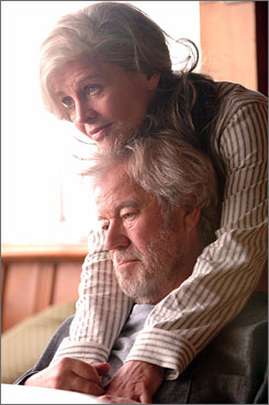 Julie Christie plays a woman who has Alzheimer's and forgets about her husband, played by Gordon Pinsent, in Away From Her.