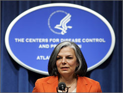 Julie Gerberding, director of the Centers for Disease Control and Prevention, believes this is the first time a federal isolation order, authorized because the patient crossed state and international borders, has been issued since 1963.