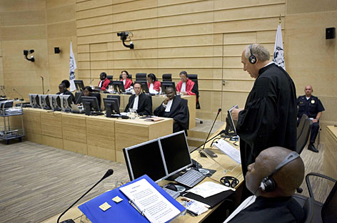 Members of The Hague attend the war crimes trial of Charles Taylor, who did not appear, saying he had lost faith in the U.N.-backed court.