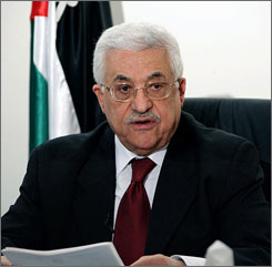"Abbas during his televised speech on Tuesday. ""Regarding our internal situation, what concerns us all is the chaos, and more specifically, being on the verge of civil war,"" Abbas said."