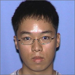 An undated photo released by Virginia State Police shows Seung-Hui Cho.