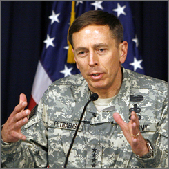 "Petraeus: ""Astonishing signs of normalcy"" in much of Baghdad."