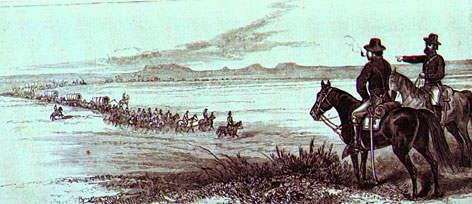 Although Sitting Bull died in a battle with Indian police and American soldiers on June 15, 1890, he had formally ended his war with U.S. forces several years earlier. This wood engraving, owned by the North Dakota Historical Society, depicts his 1881 surrender.