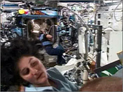 Saturday was Sunita Williams' 189th day in space, a record for women. The previous mark was set by Shannon Lucid in 1996, aboard the Mir space station.
