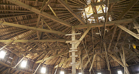 Photographer Larry Kanfer took this photo of a round-barn roof, near Manhattan, Ill., for a book he plans on Illinois barns.