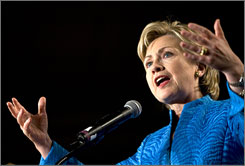 Hillary Clinton speaks at the National Hispanic Prayer Breakfast in Washington, D.C.