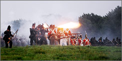 The final charge of Napoleon's dreaded Imperial Guard fell apart under the deadly fire of British rifles and muskets.