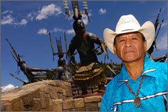Legend has it that Yale University's ultrasecret Skull and Bones society swiped the remains of American Indian leader Geronimo nearly a century ago from an army outpost in Oklahoma. Now Geronimo's great-grandson Harlyn, shown here in Ruidoso, N.M., wants the remains returned.