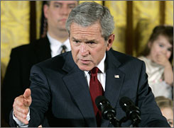 "President Bush surrounded himself with children born from frozen embryos when he vetoed the stem-cell bill in July 2006, saying it crossed a ""moral boundary."""