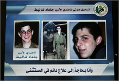 Abducted Israeli soldier Cpl. Gilad Shalit, 19, is seen on the the website of the Ezzedeen Al Qassam Brigades. Today marks a full year since Shalit was captured by Hamas and other militants.