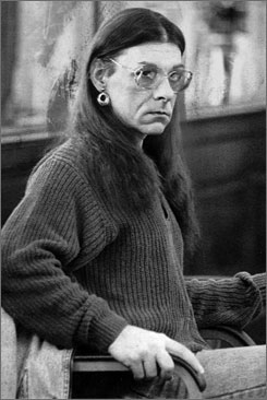 Robert J. Kosilek, now known as Michelle, is seen in this file photo taken Friday, Jan. 15, 1993, in Bristol County Superior Court in New Bedford, Mass., where Kosilek was on trial for the May 1990 murder of his wife. Kosilek, who was convicted and  is now jailed in a Massachusetts prison, wants the state Department of Correction to pay for a sex-change operation.