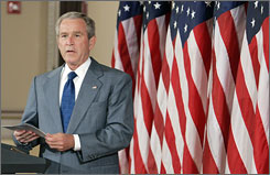 """Bush said Tuesday that most people understand that on immigration """"the status quo is unacceptable."""" The Senate voted this afternoon to resume debate on the bill."""