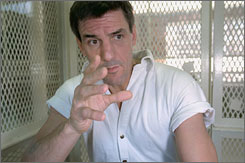 Death row inmate Scott Louis Panetti was held in a Huntsville, Texas, prison for murdering his wife's parents.