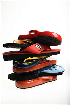 """Flip-flops were never meant to be everyday shoes,"" Dr. Marybeth Crane, a sports podiatrist and spokeswoman for the American College of Foot and Ankle Surgeons, said. Marlene Reid, a Chicago-area podiatrist, said aside from choosing the sandals for the beach, ""there are better choices"" for the rest of life."