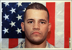 Spc. Alex R. Jimenez, 25, has been missing since his unit was attacked in Iraq on May 12, 2007. His wife, Yaderlin Hiraldo Jimenez, received her green card Friday after authorities had threatened to deport her for entering the U.S. illegally.