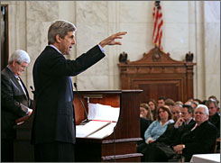 "After losing his White House bid in 2004, John Kerry returned to his work in the Senate, including this appearance at the  ""Debate on Global Climate Change and The Environment,"" a discussion on global climate change and the environment on Capitol Hill in April."